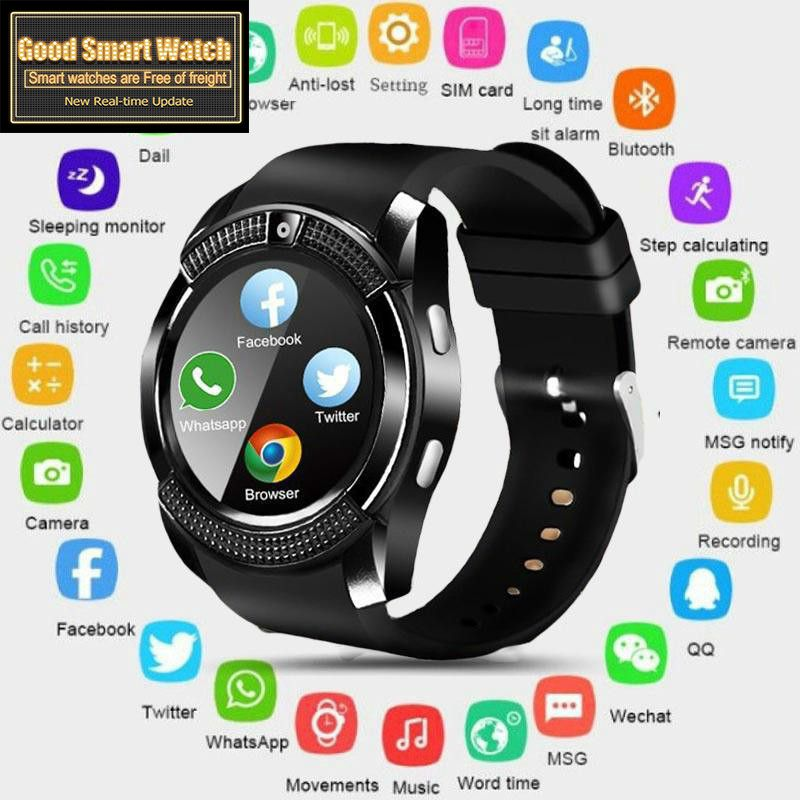<font><b>Smart</b></font> <font><b>Watch</b></font> Men Bluetooth Sport <font><b>Watches</b></font> Women Ladies Rel gio Smartwatch with Camera image