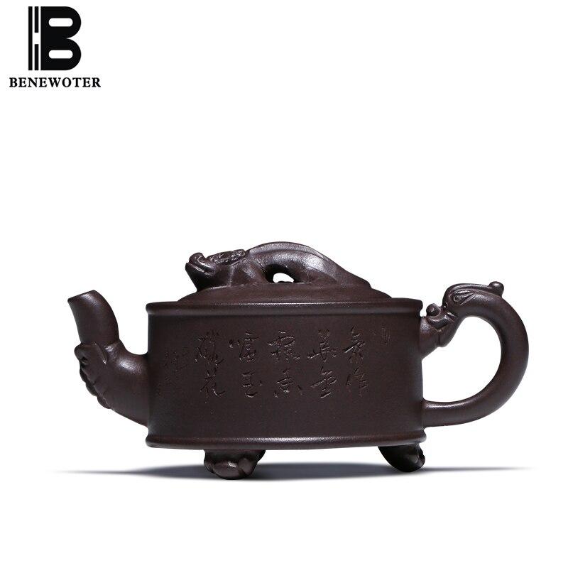 150cc Аутентичные Исин фиолетовый чайник глины ручной Творческий Сан-Чжу длинные дракон  ...