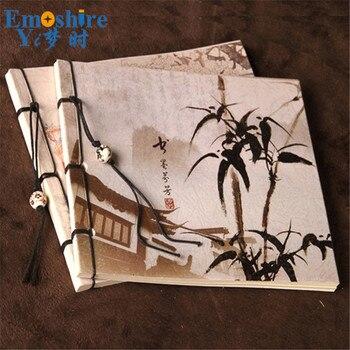 Bambu Boyama Tel Günlük Muhtıra Kablolu Notebpad Toptan Sanat