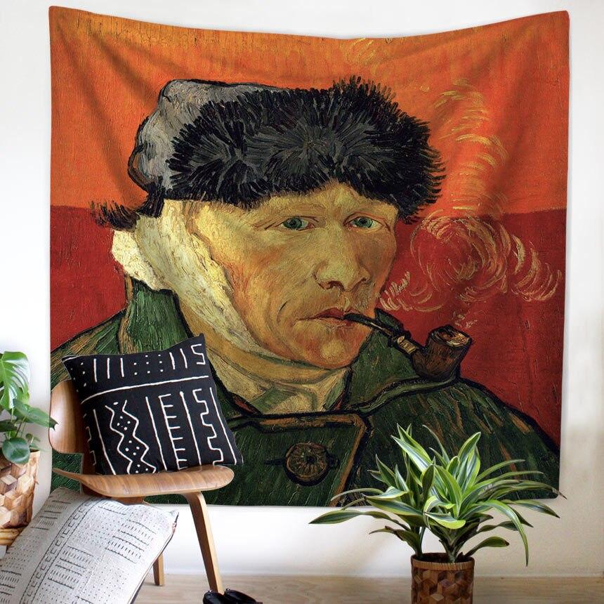 Zeegle Van Gogh Artist Wall Hanging Tapestry Living Room Decor Sofa Chair Cover Fashion Beach Towel 150x200cm Wall Carpets