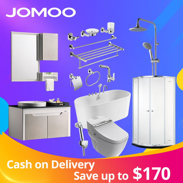 JOMOO Bathroom Hardware Sets Basin Faucets Shower Set Bathtub Bathroom Cabinet sanitary ware suit Toilet Bowl Wall Paper Holder