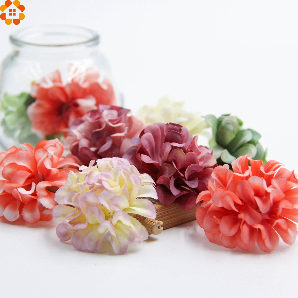 30 unids cabeza crisantemo flores artificiales de seda para la boda decoración d
