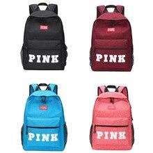 School Bag Pink Backpack  Pink Bags Zipper Travel Soft School Backpack  Girls Boys Backpack Set