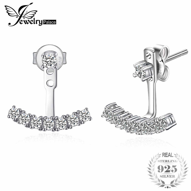 JewelryPalace Fashion 0.6ct Cubic Zirconia Stud Earrings Soild 925 Sterling Silv