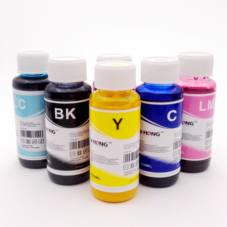 6 color Sublimation ink machine printer heat <font><b>transfer</b></font> paper dark printer bulk ink