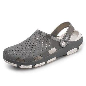 Image 1 - Mens Zoccoli Pantofole Dei Sandali Della Piattaforma Scarpe Maschili Sandali di Estate Scarpe Da Spiaggia Sandali Pantofole Sandalet hombre Sandali Nuovo 2020
