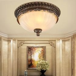 W stylu Vintage europa lampy sufitowe Led lampa sufitowa do salonu lampka do sypialni AC85-265V restauracja balkon Hanglamp do montażu na powierzchni