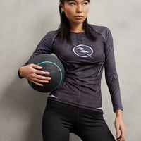 ZOOM 3D Printed T Shirt Women Compression Shirt Ladies Raglan Long Sleeve Flash Cosplay Costume Fitness