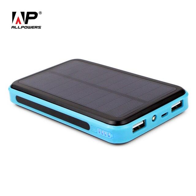 ALLPOWERS Внешняя Батарея 10000 мАч Открытый Аварийного Солнечной Энергии Банк Кемпинг Мобильный Телефон Солнечной Chager ПК Таблетки Зарядное Устройство.