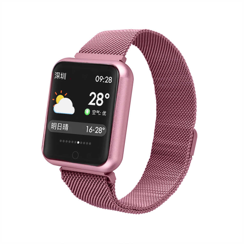 P68 sports smart watch Smart Band Heart Rate Monitor Fitness Bracelet IP68 Waterproof Smart Band Bluetooth for IOS Android Phone