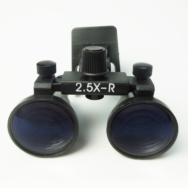 2 5x Glasses Clip Dental Loupes Binocular Surgical Loupe Lab Medical Magnifier WD 260 380MM Medical