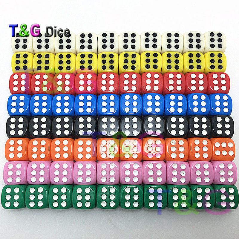 8 Colors 14*14*14mm Casino D6 Dice With Standard Dots,drinking Gambling Club Bar Toys,novelty Cubes For Entertainment