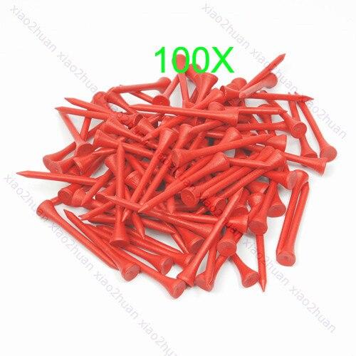 B39 Hot 100Pcs 70mm Red Golf Ball Wood Tee WoodenTees New