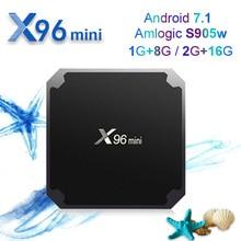 X96mini S905WAndroid 7.1 TV BOX Amlogic S905W 2GB16GB HDR 10bit Quad-core Mali-450Suppot 2.4GHz WiFi H.265 Media Player Box