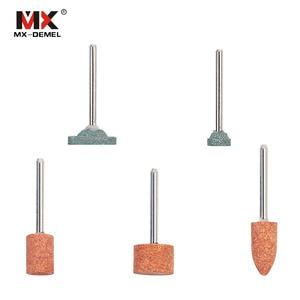 Image 3 - Juego de piedra de montaje abrasiva para Dremel, herramientas rotativas, cabezal de rueda de piedra de molienda, accesorios de herramientas Dremel, 15 unidades