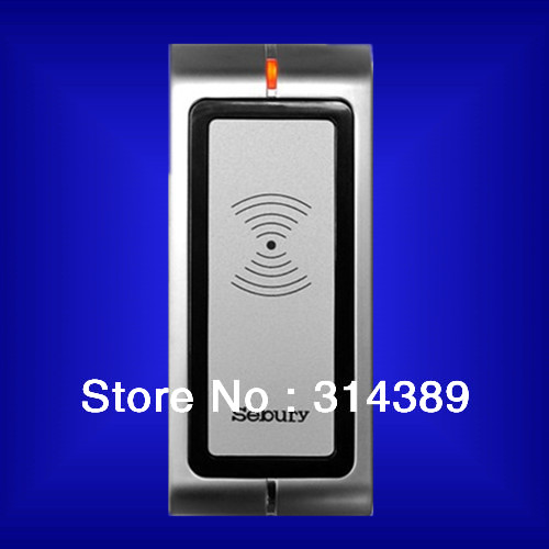 New Metal Shell Waterproof 125Khz,wiegand26 epoxy packaged Reliable RF contactless EM4100/4102 ID card READER wiegand 26 input