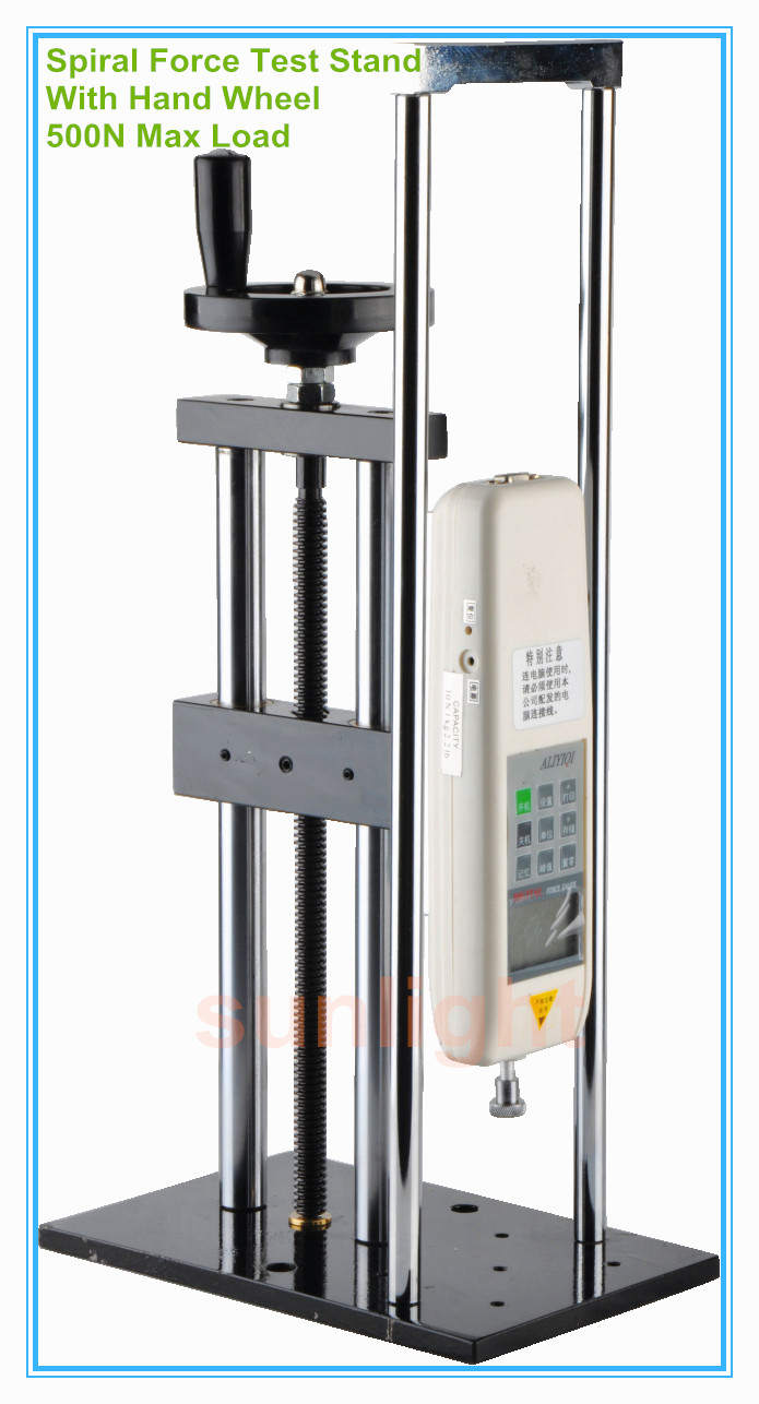500N Vertical Spiral Push and Pull Force Test Stand Working with Digital or Analog Force Tester