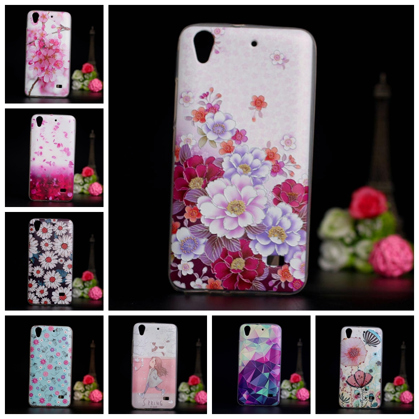 for Huawei Ascend G620S Honor 4 Play C8817E C8817D Case Cover Colored 3D Paiting Case for Huawei Ascend G620s Soft TPU Covers