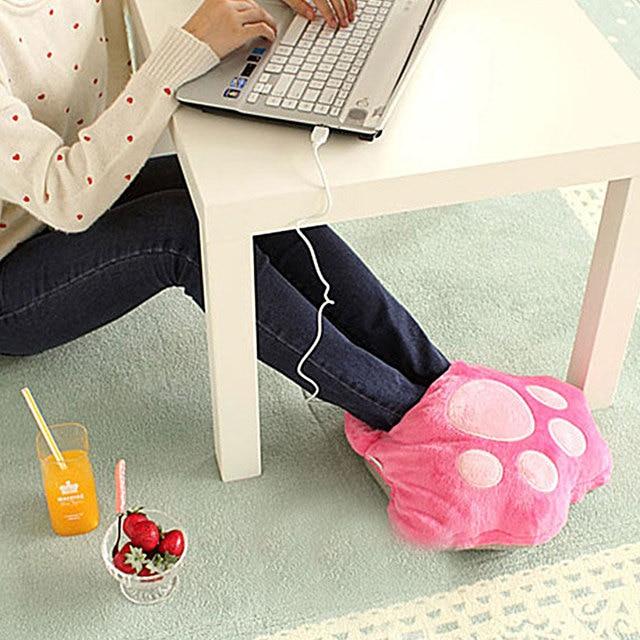 Big Feet Warm Slippers 1Pc/Lot Electric Heat Slipper Popular Warm Your Feet  Cartoon USB Foot Warmer Shoes Computer|slippers heated|slippers warmlot lot  - AliExpress
