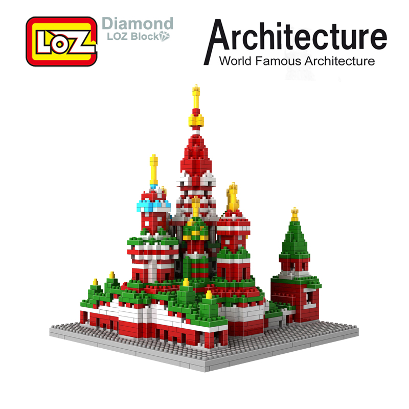 LOZ Russia ST Saint Basil's Cathedral Model Diamond Building Blocks 1870Pcs For Age 9+ The World Famous Architecture No 9375 loz mini diamond building block world famous architecture nanoblock easter island moai portrait stone model educational toys