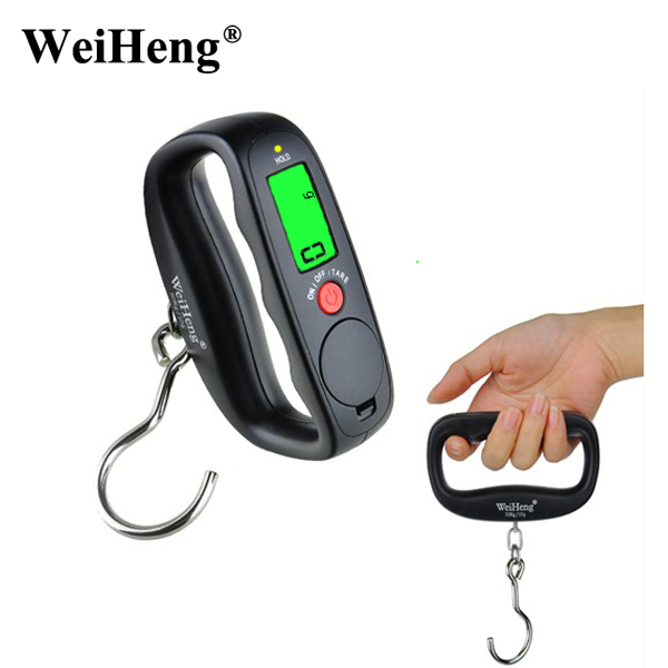 WeiHeng 50Kg/10g Digital Hanging Hook Scales hand Portable Electronic Luggage Scale Travel Fishing Balance Weight scale toogoo r 5pcs 50kg 10g portable lcd digital fishing hanging travel luggage weight hook scale