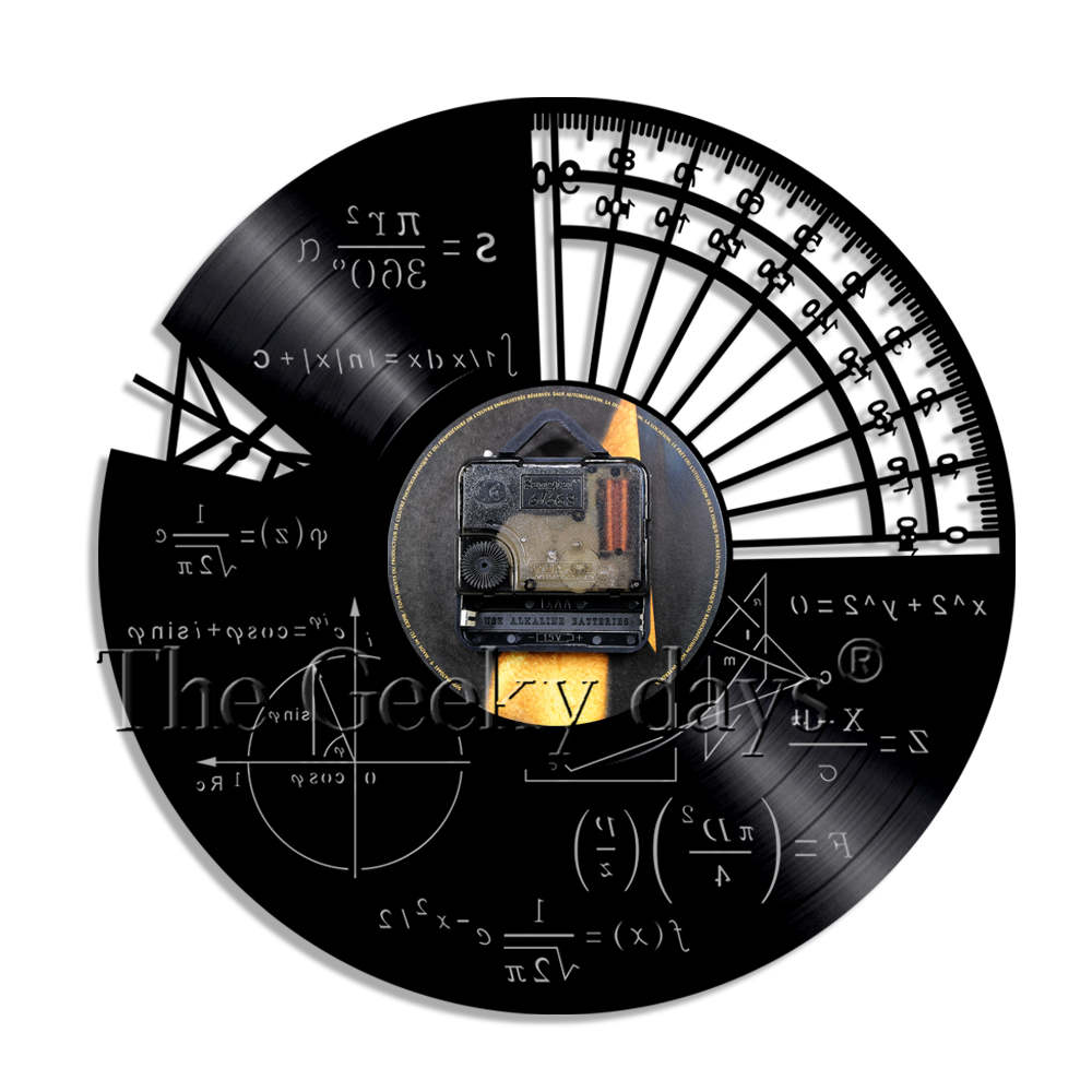 Math Formula Science Classroom Wall Art Wall Clock Geek Graphic Math Equation Vinyl Record Wall Clock Math Teachers Gift Idea