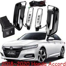 1 set auto paraurti lampada per 10th honda Accord della nebbia della luce Diurna LED 2018 ~ 2019 accessori auto per accord faro daylamp lampada della nebbia