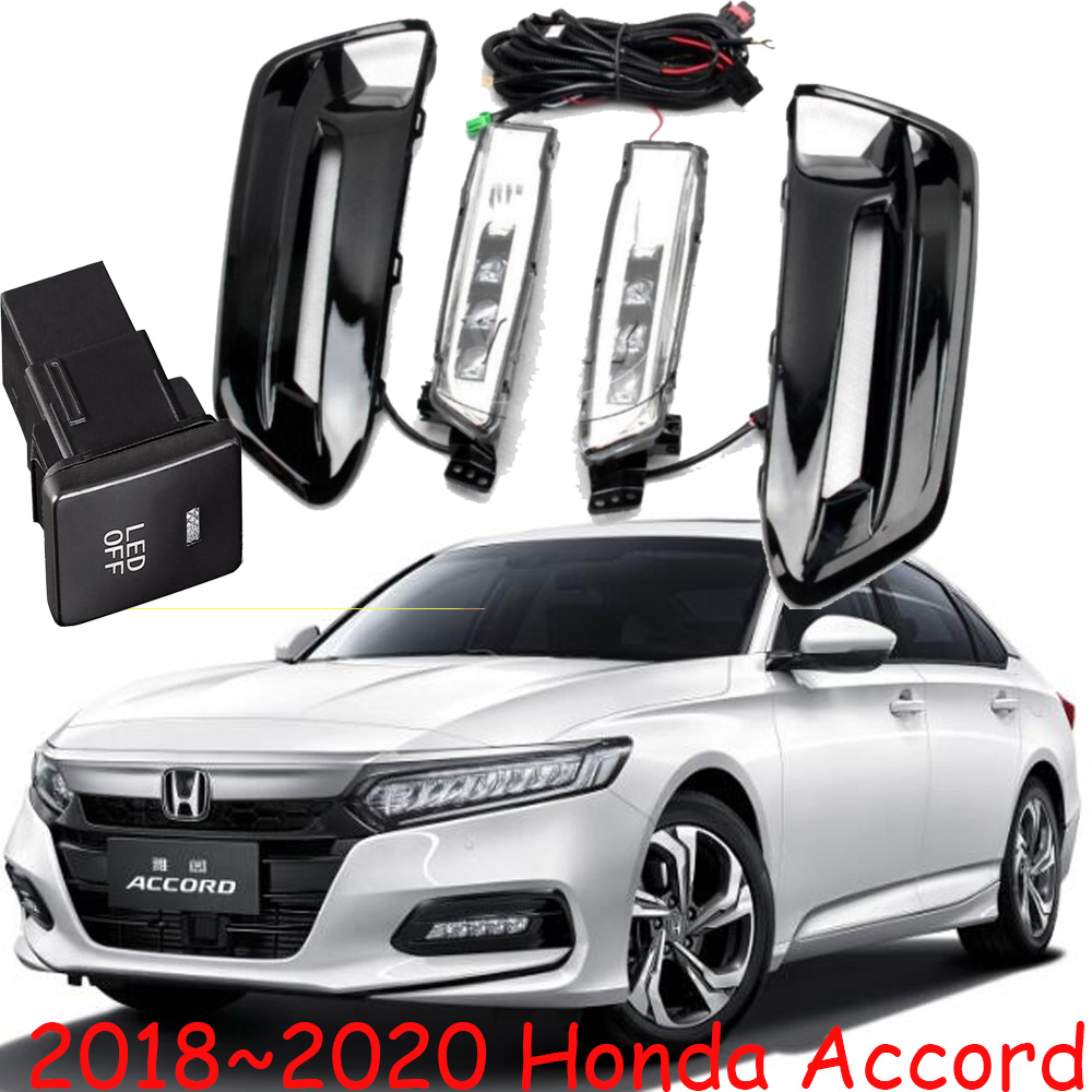 1set car bumper lamp for 10th honda Accord fog Daytime light LED 2018~2019 car accessories for accord headlight daylamp fog lamp