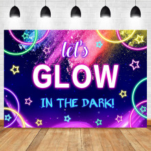 NeoBack Lets Glow Photo Backdrop In The Dark Neon crazy party Props Studio Booth Background