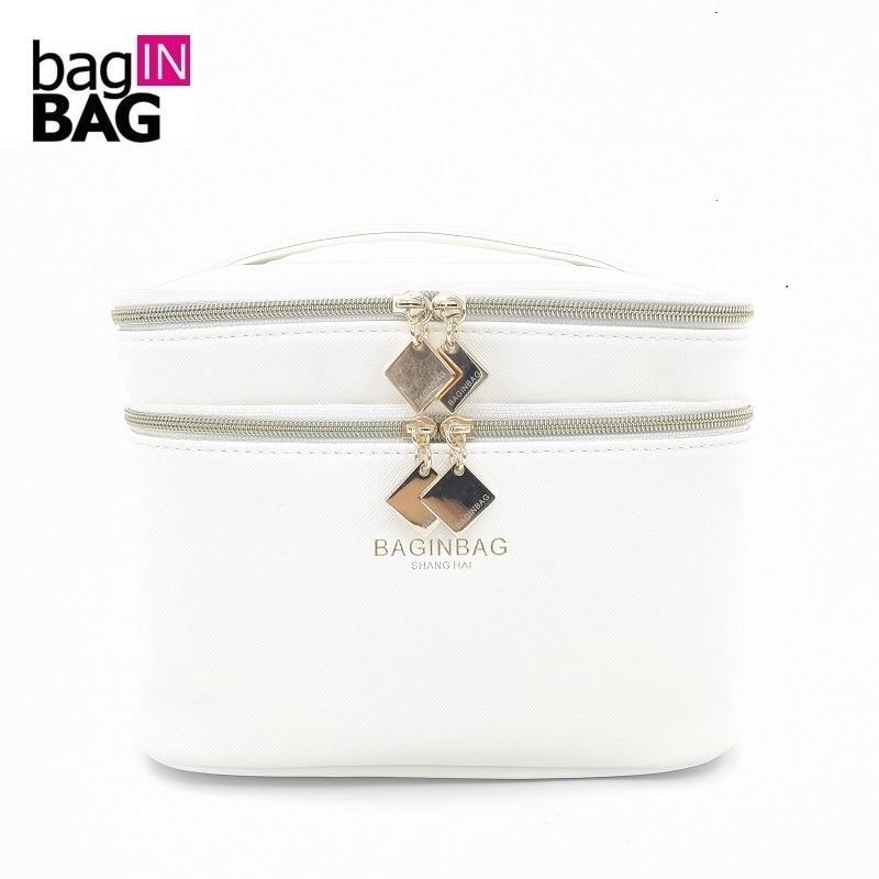 3baeedc2 Baginbag cinturón moda espejo cosmético bolsa gran capacidad pu cosméticos  almacenamiento organizador del bolso mujer cosmética bolsa