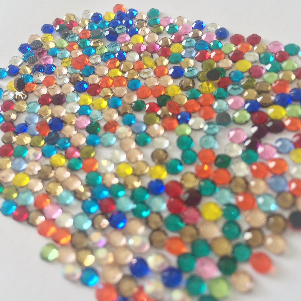 Newest big sale mix colours ss6 ss10 strass 1440pcs Appliques Nail art garment crystal shoes accessaries Rhinestones