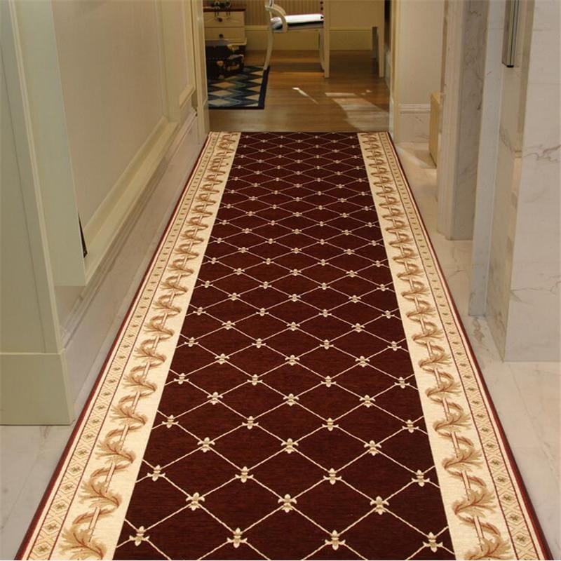 Beibehang haut de gamme long tapis couloir allée magasin complet maison chambre hôtel tapis rouge porche foyer personnalisé salon tapis de sol
