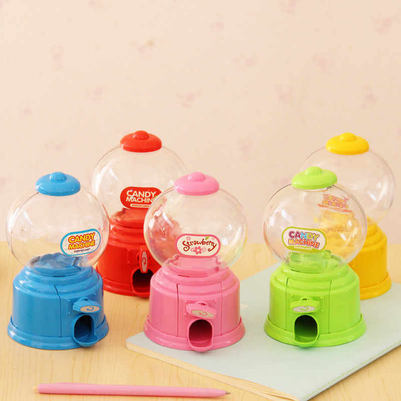 Cute Sweet Mini Candy Machine Bubble Gumball Dispenser Coin Bank Kids Toys Children Gift E2S
