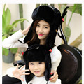 2015 Winter Hat Ear Flap Russian Bomber Hats Faux Fur Ski Beanie Hat Cap With children Warm Cap stocking stuffers for Kids MZ014