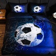 Набор постельного белья 3D с футбольным принтом, бейсбол, футбол, баскетбол, пододеяльник, домашний декор для спальни, льняное постельное белье