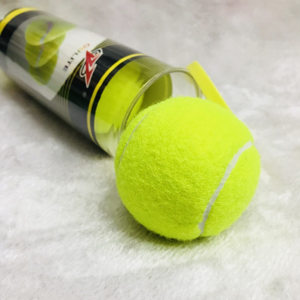 3 PCS Professional High Elasticity Training Tennis Balls Cricket Rubber Tenis Ball Competition Practice Tennisballen Exercises