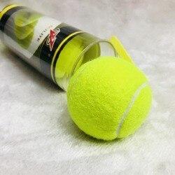 3 pçs profissional de alta elasticidade treinamento bolas de tênis de borracha tenis bola competição prática tennisballen exercícios