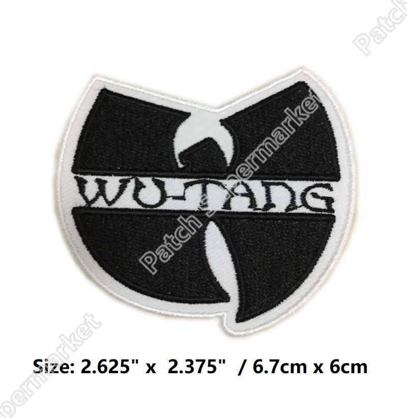 WU TANG CLAN BAND HIP HOP MUSIC EMBROIDERED Iron On Patches rockabilly LOGO TRANSFER MOTIF APPLIQUE