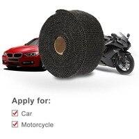 車のオートバイ排気管ガラス繊維断熱布高断熱排気パイプラップテープ布で金属ストリッ