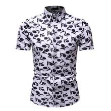 Social Shirt Men Short sleeve Floral Fashion Flower Casual Blouse Hawaiian Dress Summer New