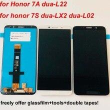 Original สีดำ/สีขาวสำหรับ Huawei honor 7S 2018 จอแสดงผล LCD + หน้าจอสัมผัส Digitizer Assembly + เครื่องมือสำหรับ Huawei honor 7a DUA L22