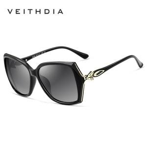 Image 4 - VEITHDIA نظارة شمسية للسيدات ذات تصميم كلاسيكي مستقطب نظارة شمسية فاخرة للسيدات V3039