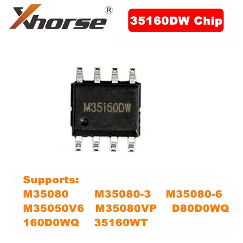 5 шт., чип Xhorse 35160DW, отклонение красной точки, нет необходимости в симуляторе, работа с ключами VVDI Prog Φ 35160WT/M35080 и т. д.