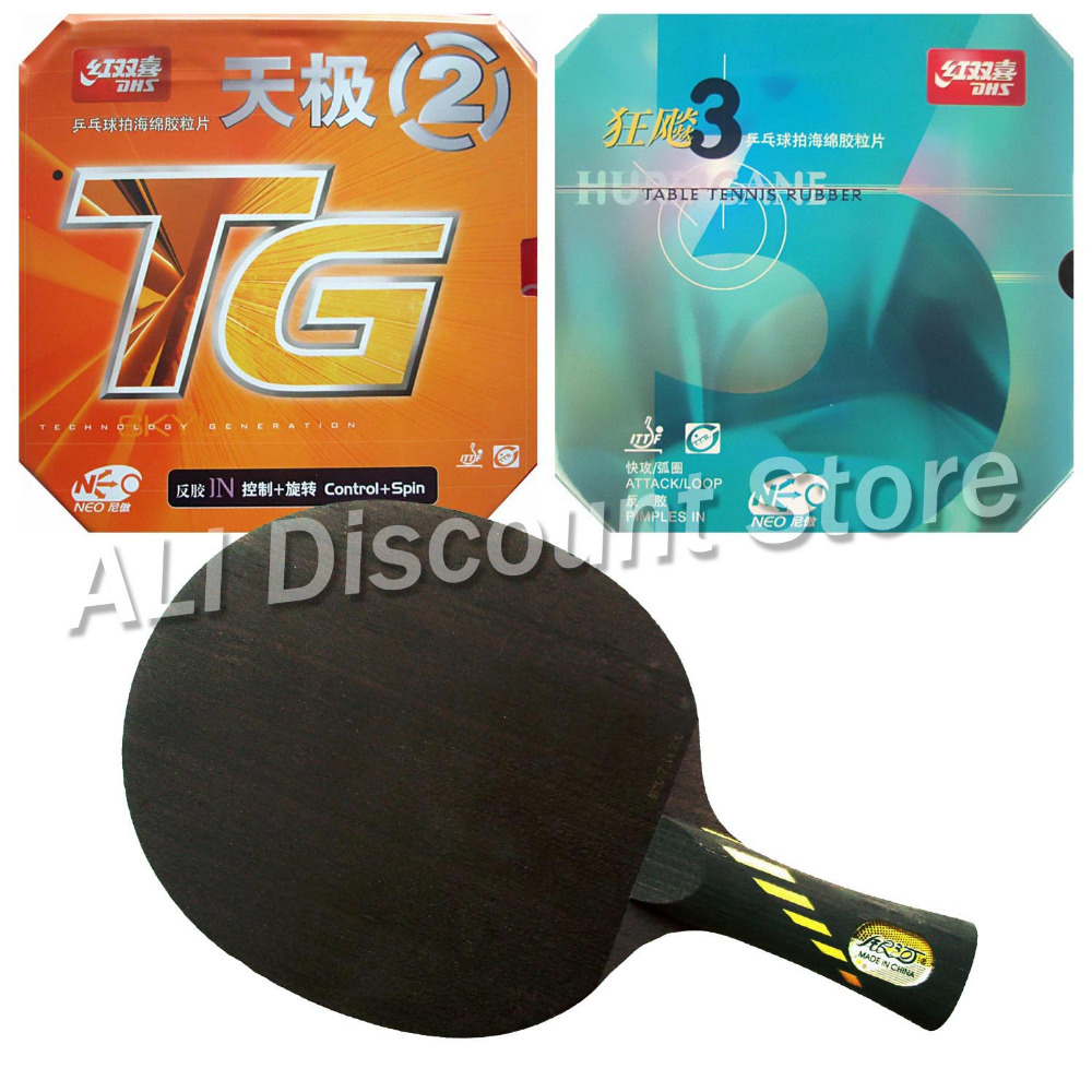 Galaxy Yinhe MC-2 Blade with DHS NEO Hurricane 3 and NEO Skyline TG2 Rubbers for a Table Tennis Combo Racket FL hrt 2091 blade with galaxy yinhe 9000e dawei 388a 4 rubbers for a table tennis combo racket fl