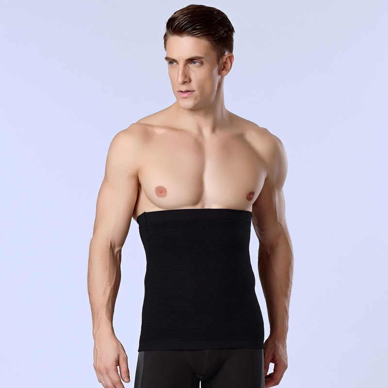 487203af98d High Waist Trainer Men Bodysuit Slimming Compression Contour Body Shaper  Strong Shaping Belt Underwear