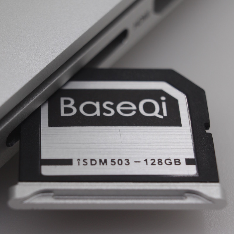 BASEQI Aluminum 128GB Storage Expansion Card for MacBook Pro 15 Retina (Early 2013 and before) baseqi aluminum 128gb memory card for microsoft surface book 13and surface book 2 13 storage expansion card