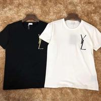 2019 Summer Women t shirt New Casual Embroidery Letters Short Sleeve Women T Shirt Cartoon prin 100% Cotton