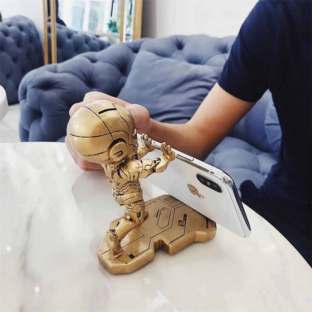 Image 5 - Fashion Mobile Phone Smartphone Desktop Marvel Avengers iron Man For iPhone Samsung HUAWEI For All model Phone Mini Desk Stand-in Phone Holders & Stands from Cellphones & Telecommunications