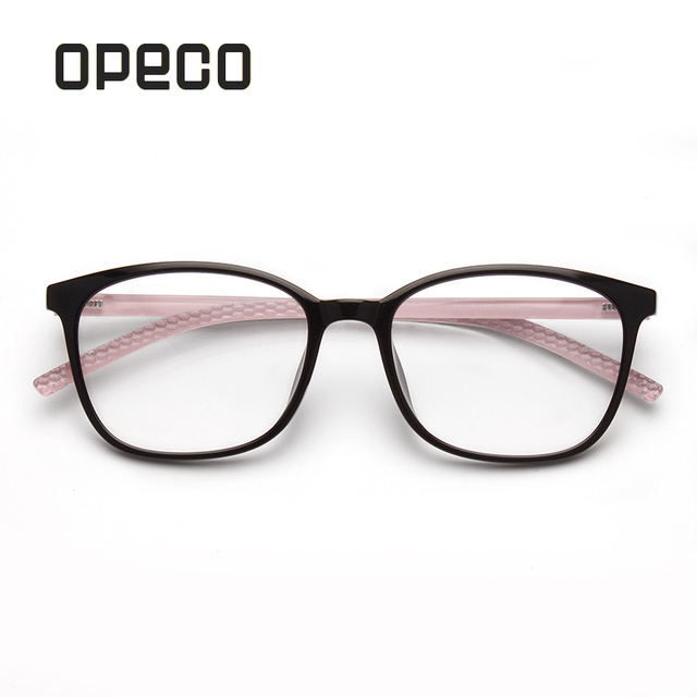 955034460c60 Opeco Women's Prescription Eyeglasses Frame Light TR90 Glasses Full Rim  Myopia Optical Big Eyewear S3108