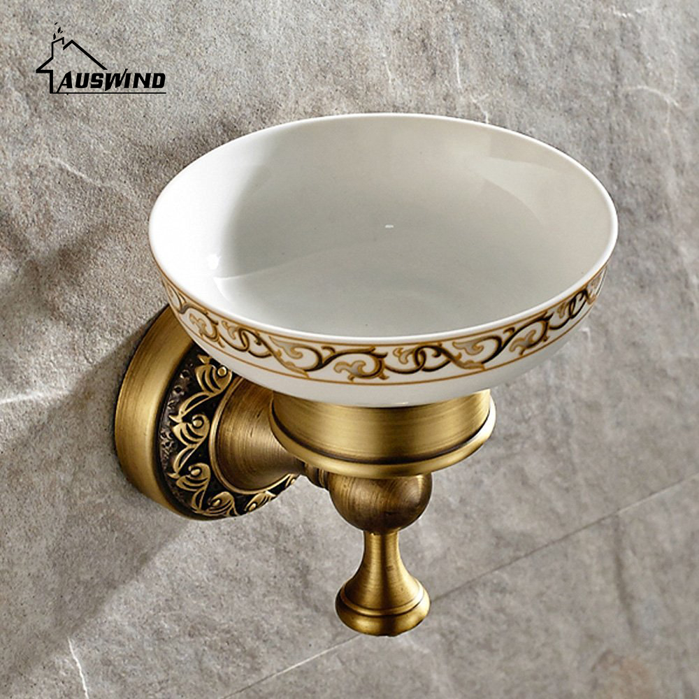 Antique Bronze Brass Carved Bathroom Accessories Set Brushed Bathroom Products Solid Brass Bath